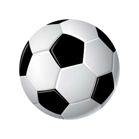 Soccer ball - modern vector realistic isolated clip art
