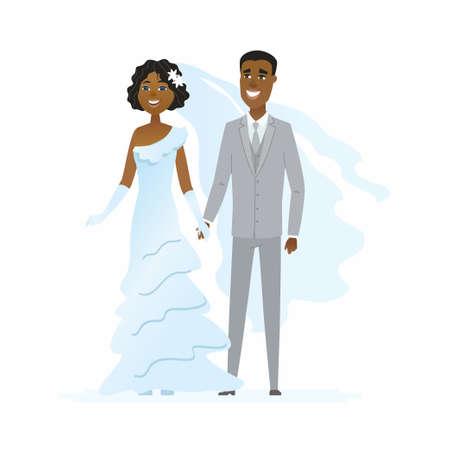 結婚式 - 漫画の人々のキャラクター孤立したイラスト