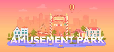 Amusement Park - modern flat design style illustration. Illusztráció