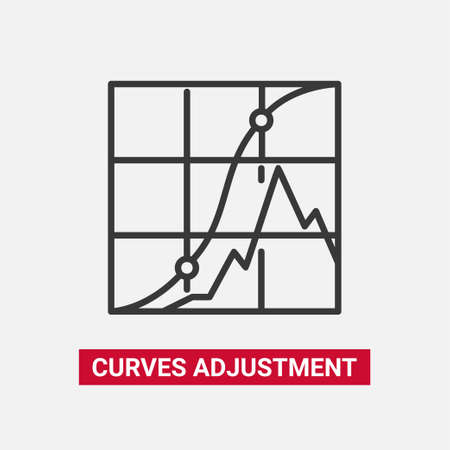 Curves adjustment - line design single isolated icon.