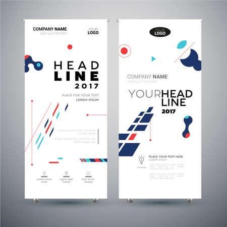 Corporate banner template. Illustration