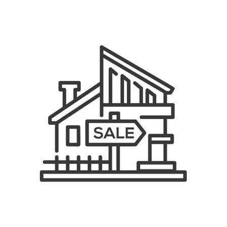 House for sale icon. Stock fotó - 92047019