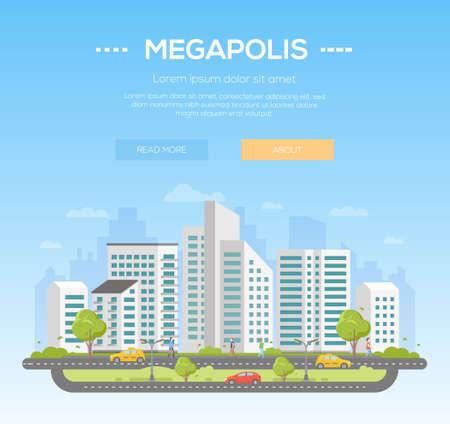 moderne city illustration