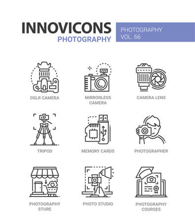 Picture services icon set.