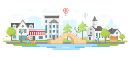 City with a bridge icon.