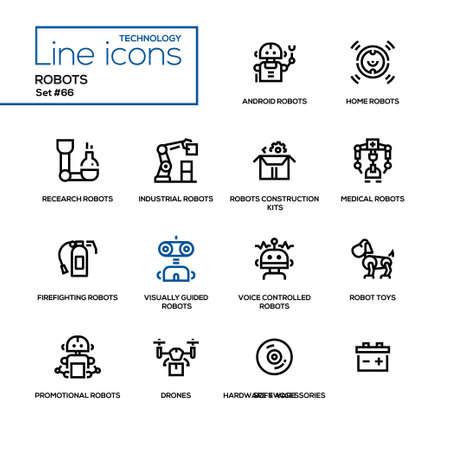 Robots icon set.