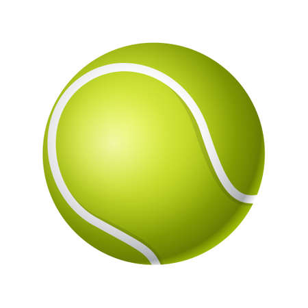 Tennis ball - modern vector realistic isolated object on white background. Game, sport concept. Use this high quality clip art for presentations, banners, flyers