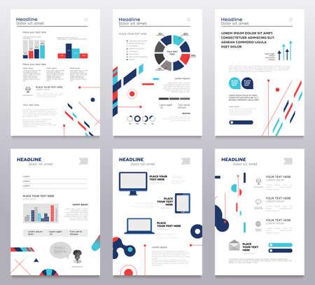 Presentation booklet set of modern abstract templates. Illustration
