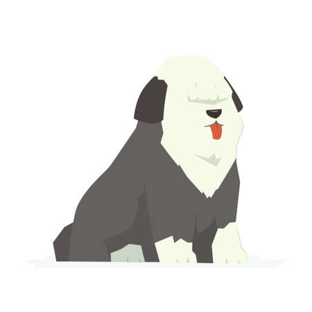 Cute bobtail modern cartoon characters illustration. Stock Vector - 92070344