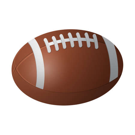 American football ball - modern vector realistic isolated object