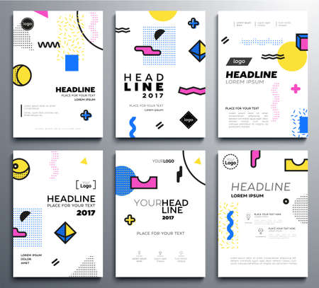 Presentation booklet cover - vector template a4 pages