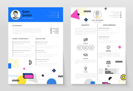 Set of modern template illustrations.
