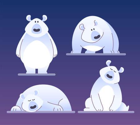 Cute polar bear - modern vector cartoon characters illustration. Illustration