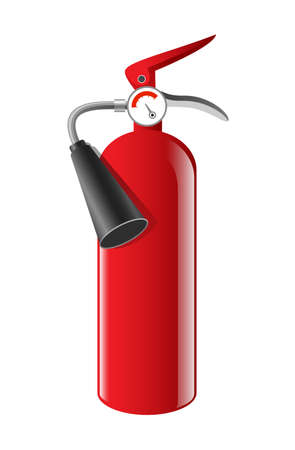 Fire extinguisher - realistic vector isolated object Stock Illustratie