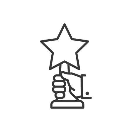 Award - line design single isolated icon