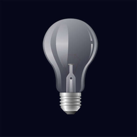 Single light bulb - modern vector realistic isolated illustration