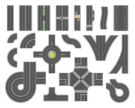 Zestaw narzędzi mapy drogowej - zestaw elementów nowoczesnych wektorów miasta