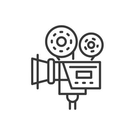 Camera - line design single isolated icon Stock Illustratie