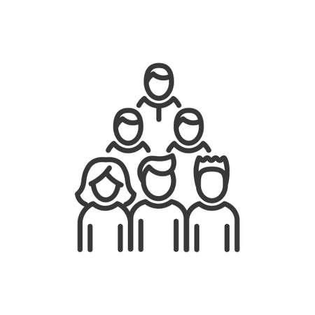 Voters - line design single isolated icon Illustration