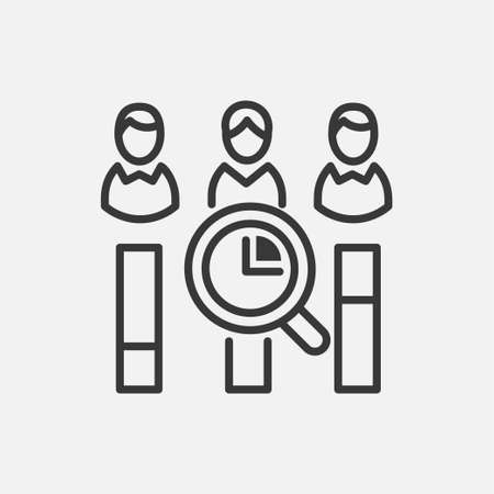 투표 계산 - 라인 디자인 단일 격리 된 아이콘