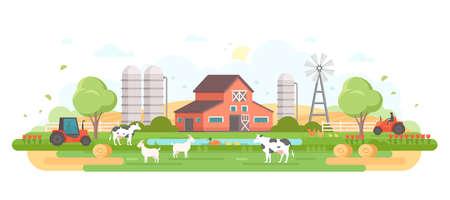 Farm - modern flat design style vector illustration. Illustration