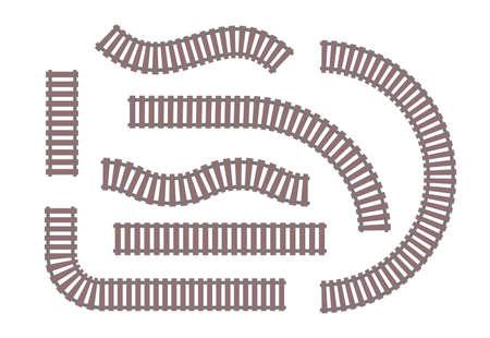 Rails - set of modern vector objects. 일러스트