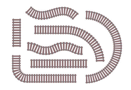 Rails - set of modern vector objects. Illustration