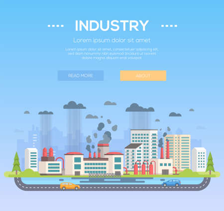 Industry modern flat design style vector illustration