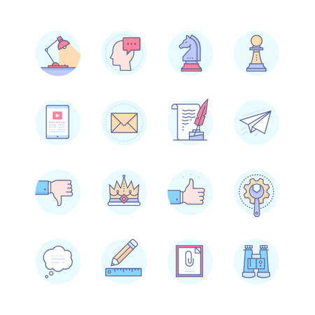Business concepts. Modern line style icons set