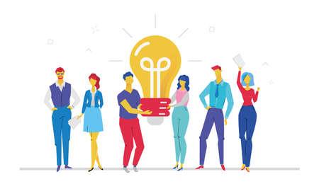 People bright idea image illustration Stock Illustratie