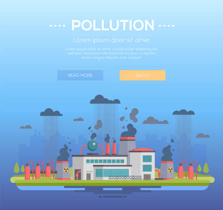 Pollution image design illustration Çizim