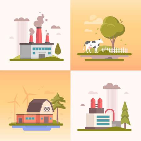 Ecology building design image illustration Stok Fotoğraf - 97691011