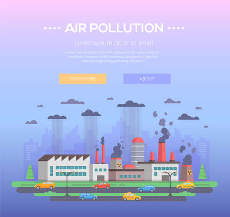 Air pollution - modern flat design style vector illustration