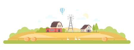 Countryside - modern flat design style vector illustration