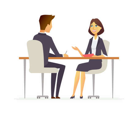 Job interview - cartoon people character isolated illustration 版權商用圖片 - 98250684