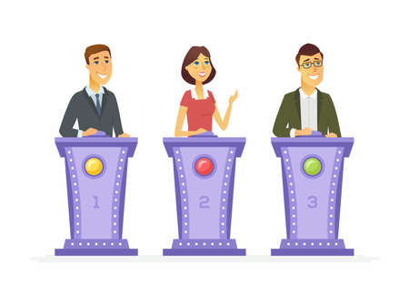 Game show players vector illustration Ilustrace