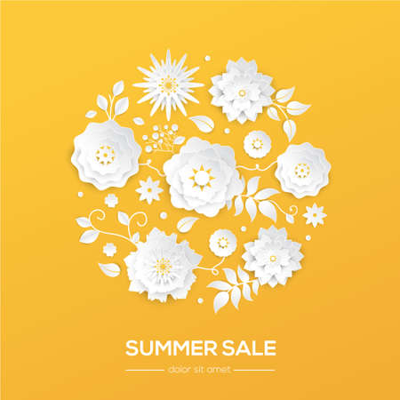 Summer sale - modern vector colorful illustration Archivio Fotografico - 99396408