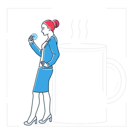 Businesswoman on a coffee break