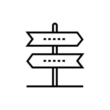 Direction arrows - line design single isolated icon Ilustrace