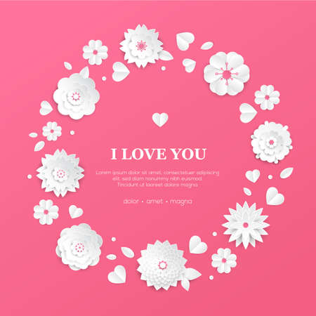 I love you - modern colorful illustration 向量圖像