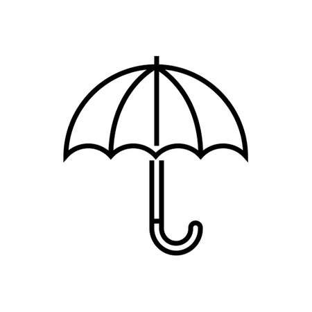 Umbrella - line design single isolated icon