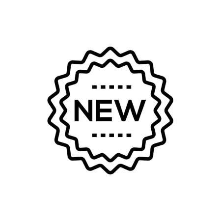 nuevo signo - icono de línea única aislado icono Ilustración de vector