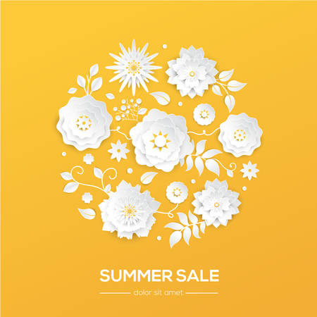 Summer sale - modern vector colorful illustration