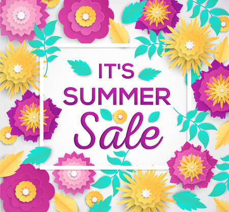 It is summer sale - modern vector colorful illustration