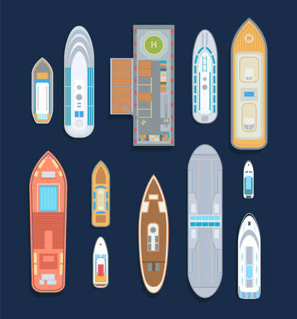 Boats - set of modern vector elements