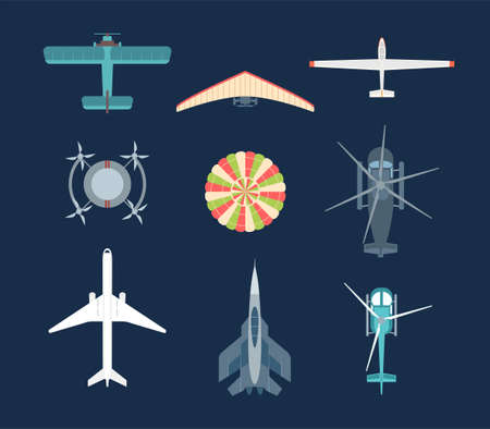 Aircraft - set of modern vector elements Banque d'images - 101853890
