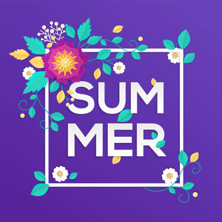 Summer - modern vector colorful illustration 向量圖像