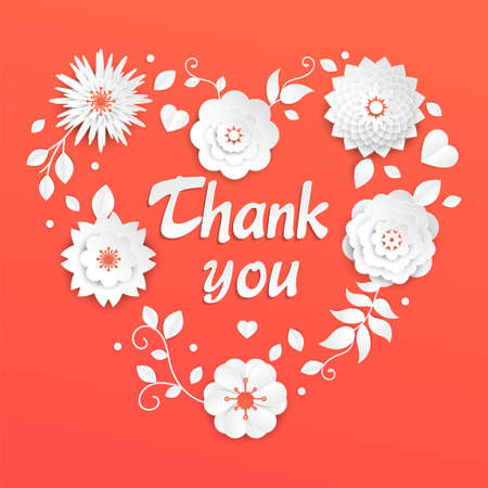 Thank you - modern vector colorful illustration