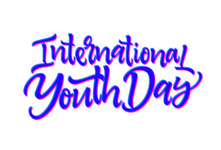 International Youth Day - vector hand drawn brush pen lettering