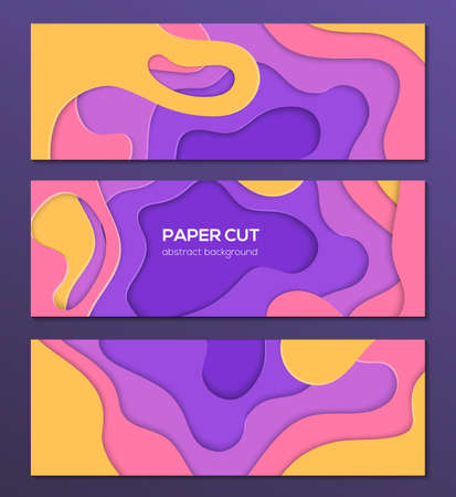 Multicolored abstract layout - set of modern colorful vector posters on dark background with place for your information. Lovely texture, bright colors. Three banners, flyer, card, invitation templates Stock fotó